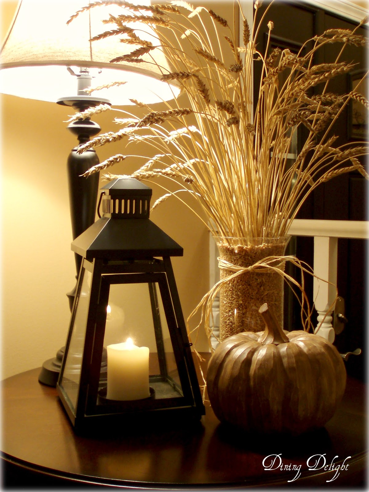 Dining Delight Fall Wheat Centerpiece