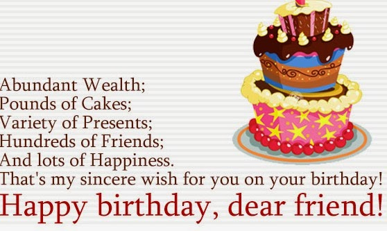 Friend Birthday SMS