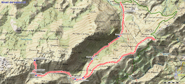Mapa ruta Pienzu