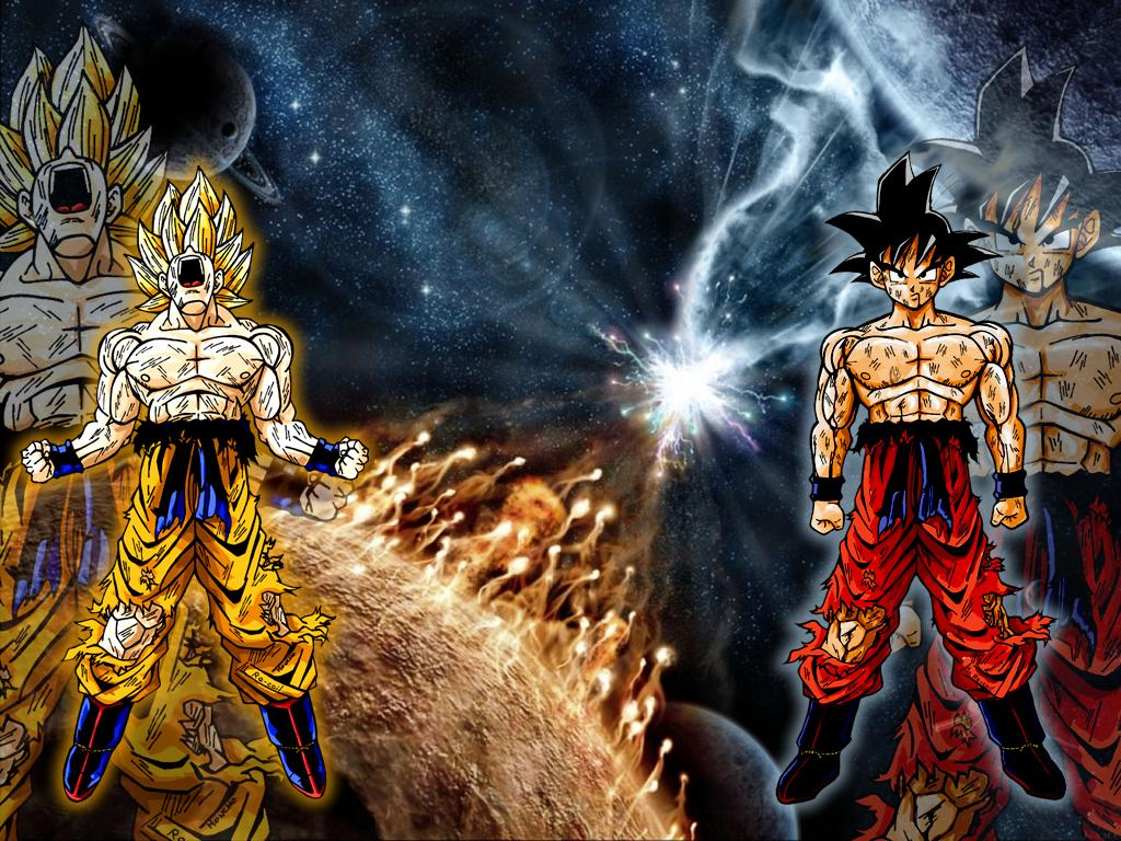 Imagenes De Dragon Ball Z Wallpaper Goku Ssj2 Goku Normal