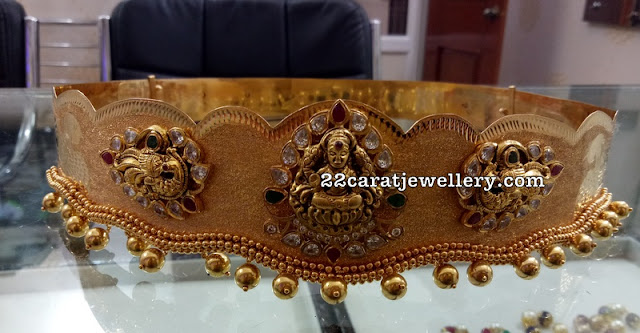 Laxmi Peacock Waistbelt by Ganesh Jewellers