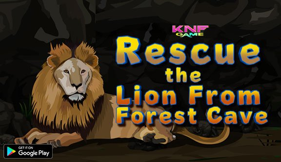 KnfGame Rescue the Lion From Forest Cave