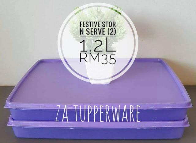 Tupperware Festive Stor N Serve (2) 1.2L
