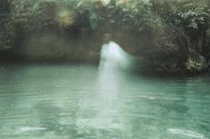 original terrifying ghost photo in pond