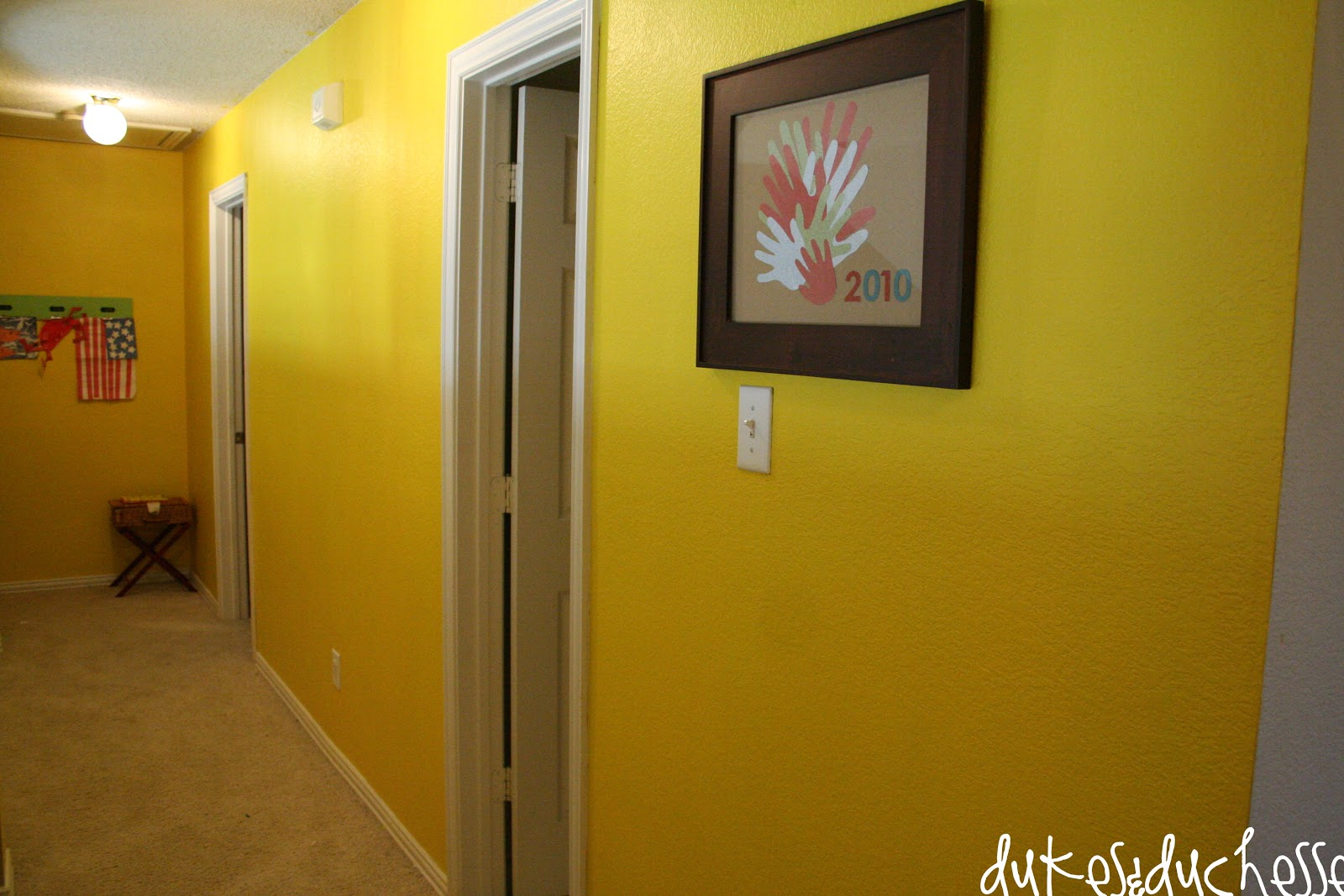 a painted hallway and tips on paint coverage dukes and duchesses