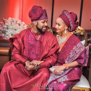 photo od banky w and adesua etomi rocking matching pairs of sneakers
