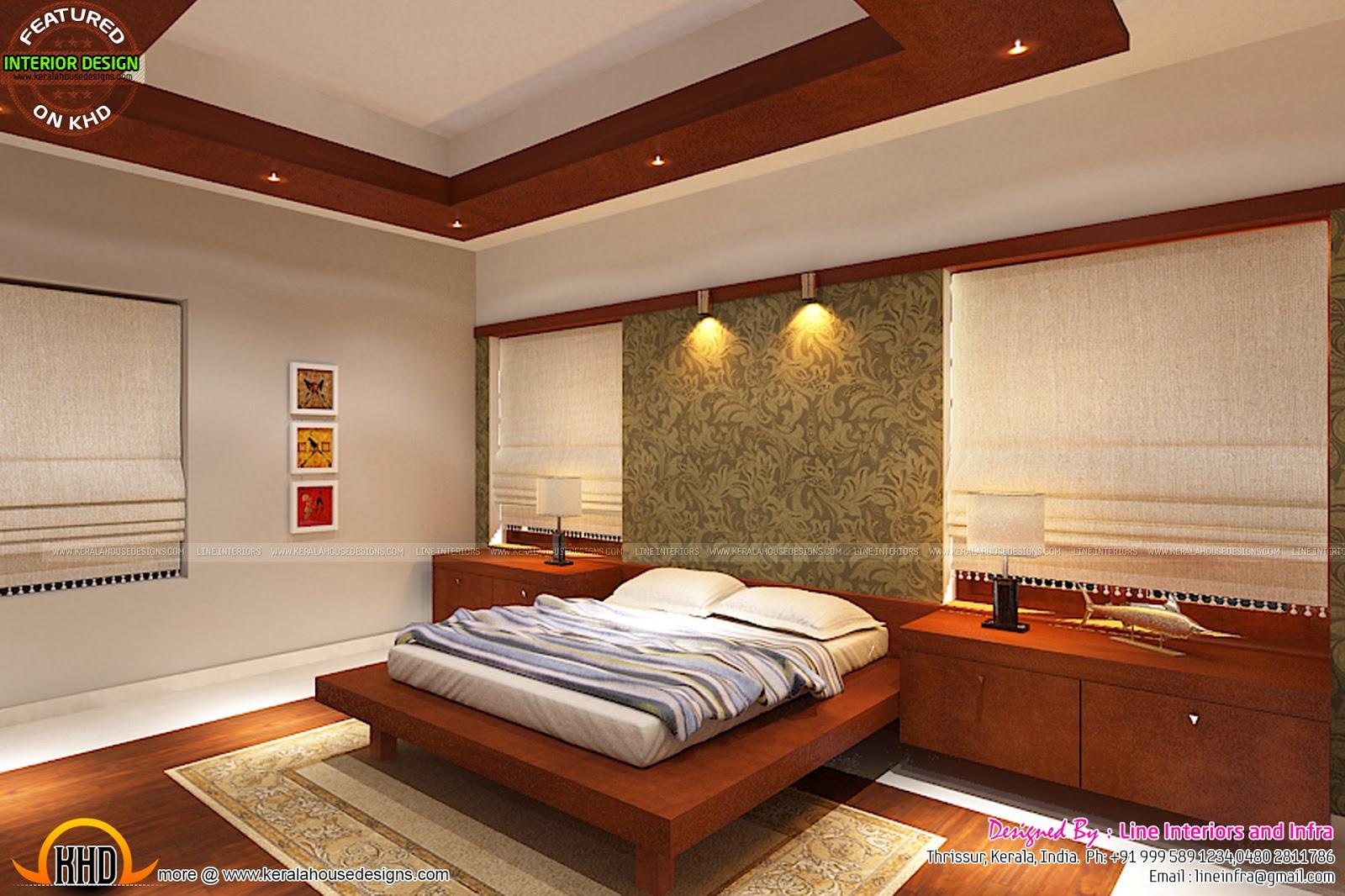 Kerala style bedroom interior designs for Kerala style interior design photos