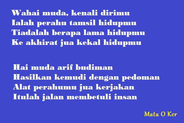 Bahasa Indonesia Kelas 7 Ciri Ciri Syair Dan Contohnya Mata O Ker