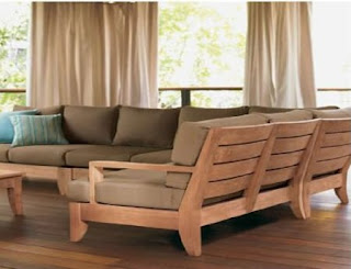 New Luxurious 5 Piece Teak Outdoor Sofa Set