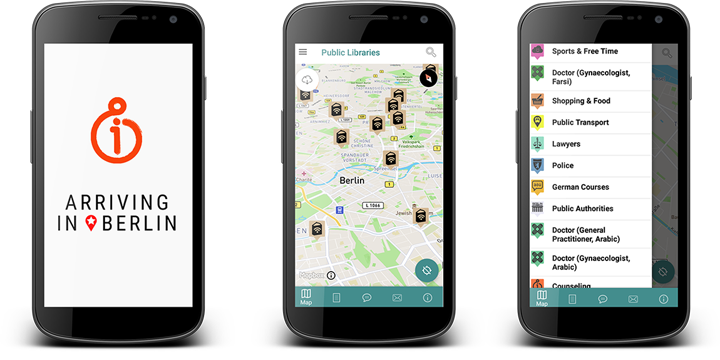 Android App: Arriving in Berlin – A Map Made by Refugees