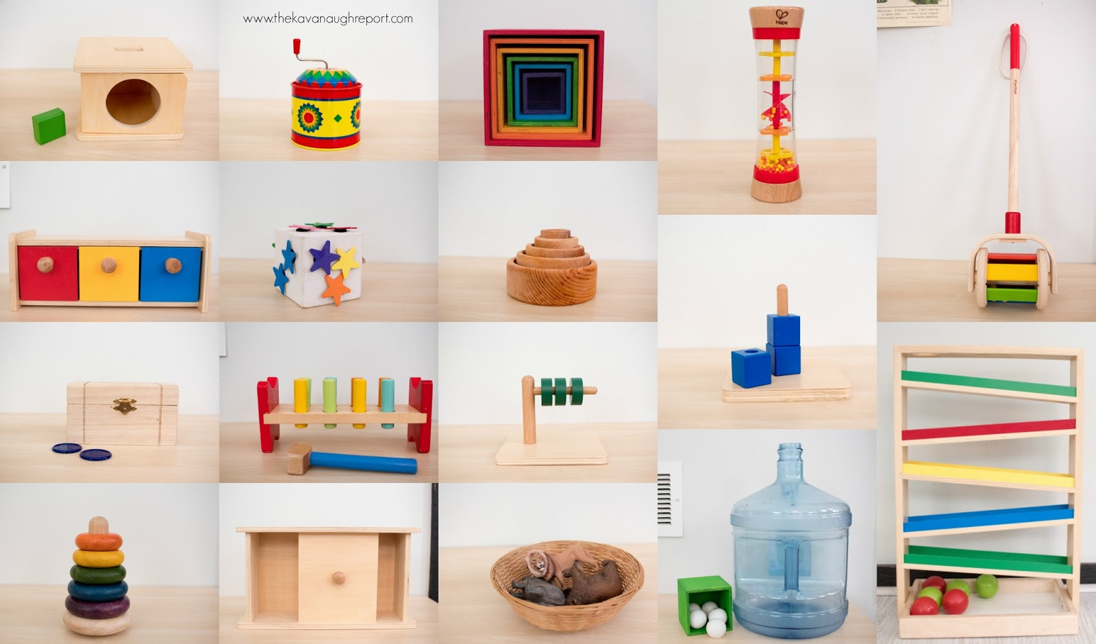 Montessori friendly baby and toddler toys from 12 to 14 months.