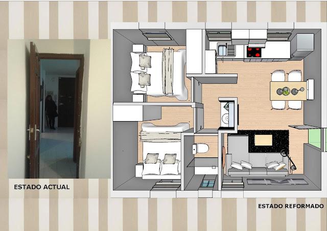 Proyecto en 3D para la reforma de piso en C/ Virtudes
