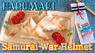 Samurai war helmet harumaki japanese baked spring rolls egg rolls samurai war helmet harumaki is perfect for boys day forumfinder Image collections