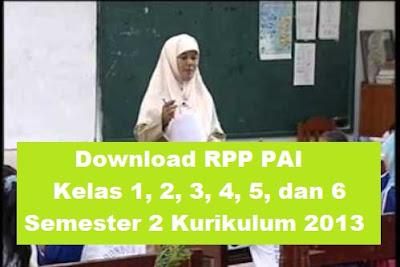 RPP PAI Kelas 1, 2, 3, 4, 5, dan 6 Semester 2 K-13