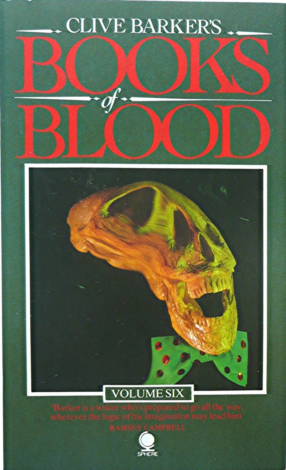 blood clive books barker vol volume 1985 sphere too much fiction horror lost living