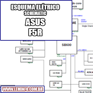 Esquema Elétrico Notebook Laptop Asus F5R Manual de Serviço  Service Manual schematic Diagram Notebook Laptop Asus F5R    Esquematico Notebook Laptop Asus F5R