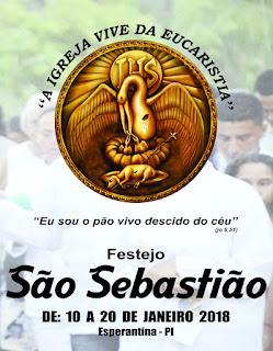 Programação da Festa de São Sebastião 2018