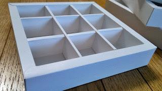 Kotak | Box coklat isi 9 (3x3)