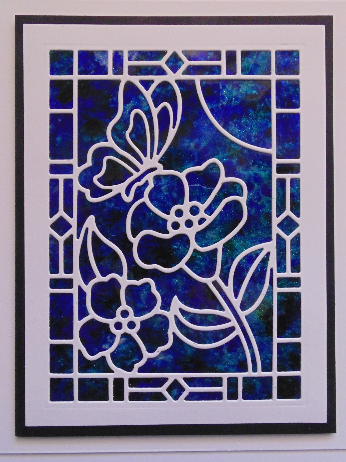 Inky Finger Zone: Simple Stained Glass Window Ideas