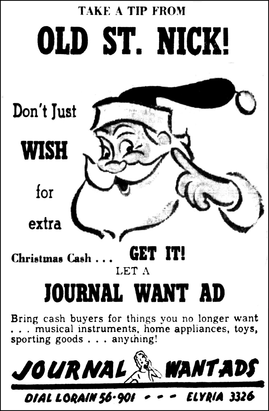 brady s bunch of lorain county nostalgia 2012 Axe Advertisements december 1955 lorain journal ad