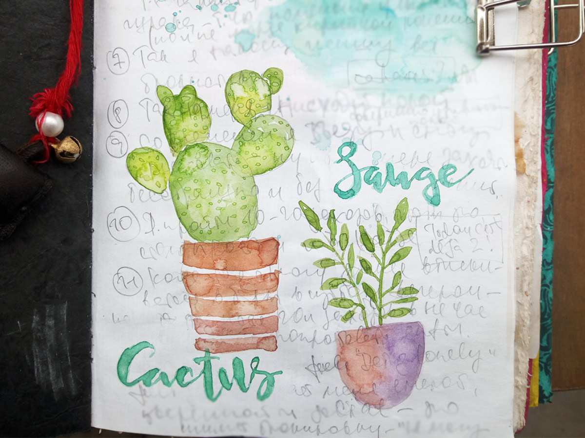 Cactus Watercolor Image