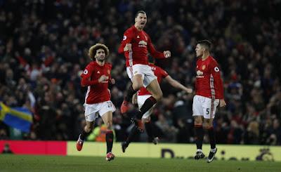 man%2Bu - Man United striker Ibrahimovic scores 250th goal as he turns 30year