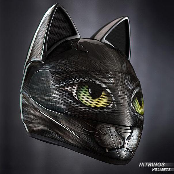 El casco gata te mantendrá linda y segura