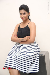 Telugu Actress Kruthika Jayakumar Stills in Short Dress at Intlo Deyyam Nakem Bhayam Success Meet  0197.JPG