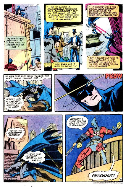 Detective Comics v1 #474 dc comic book page art by Marshall Rogers
