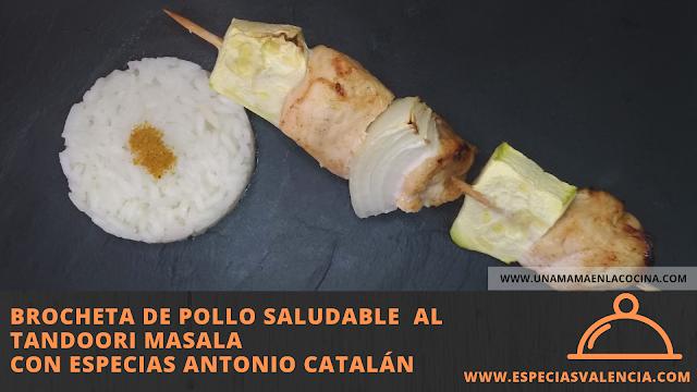 Brocheta pollo tandoori masala especiasvalencia antonio catalan