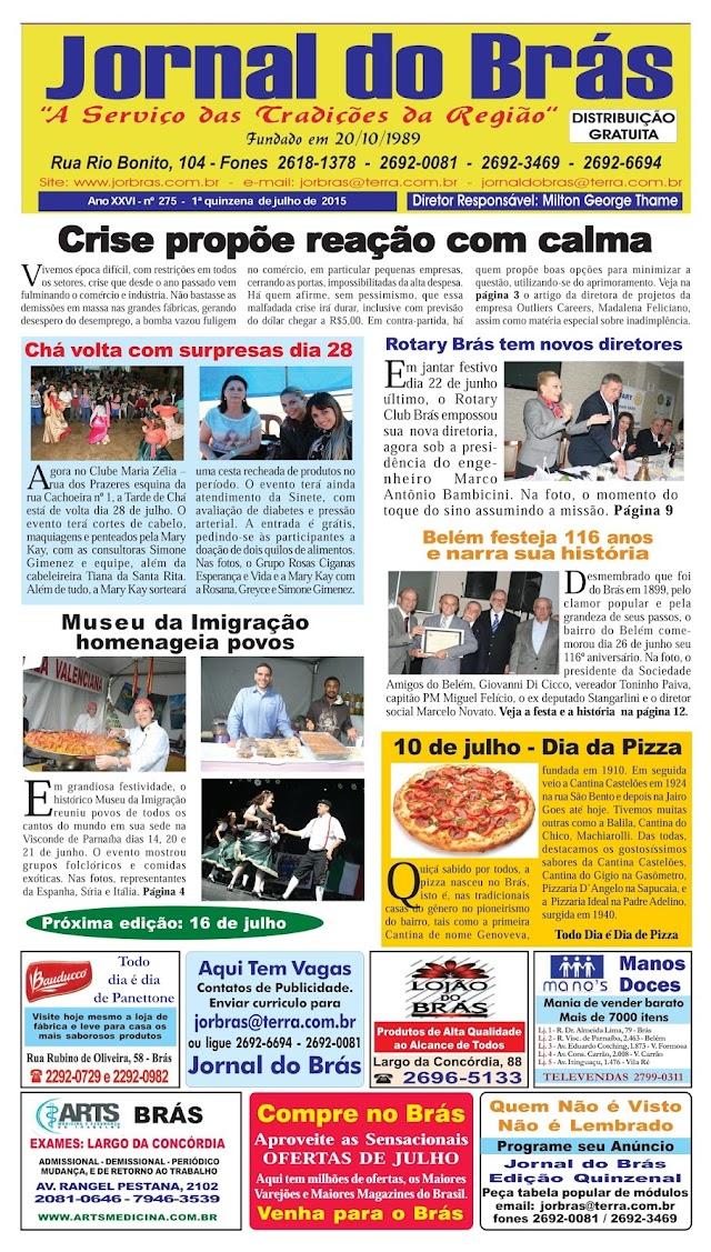 Destaques da Ed. 275 - Jornal do Brás