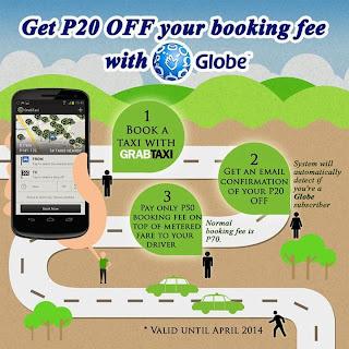 GrabTaxi app Globe promo