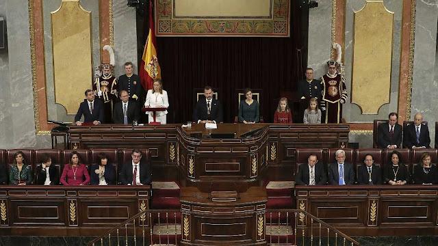 Política. Diario de sesiones de las Cortes Generales. El Rey pr