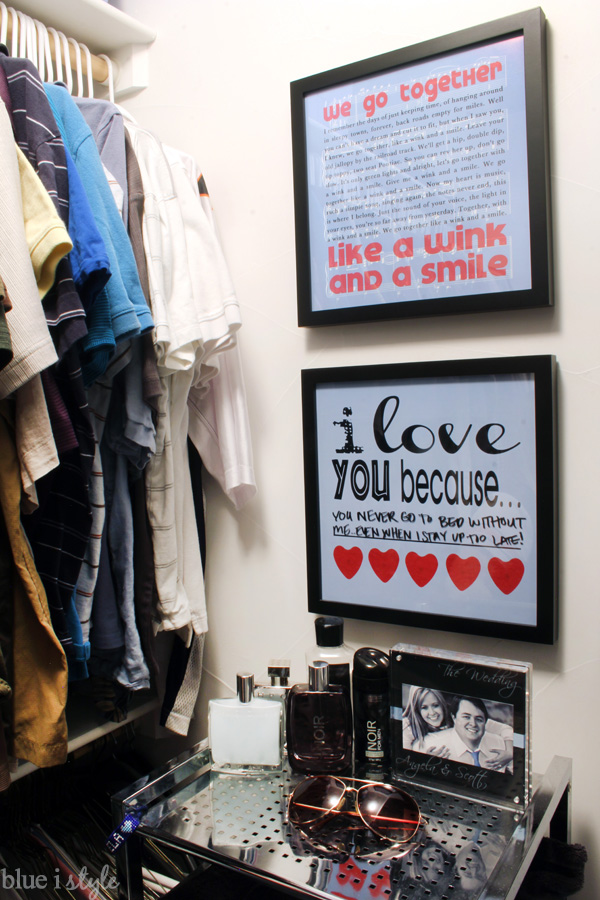 I Love You Because dry erase love note