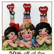 50% off of Clearance items in the etsy shop