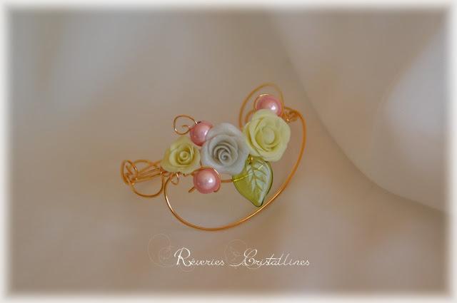 bracelet mariage précieux en volutes