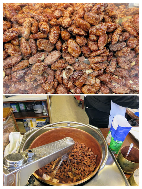 Candied almonds at the Christmas market in Essen Germany