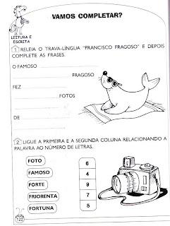 Foca - Atividades de alfabetização e atividades para imprimir 4