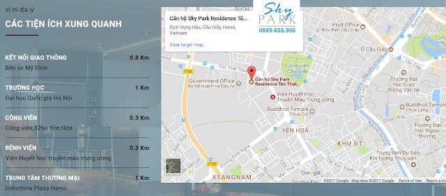 Vị trí dự án Sky Park Cầu giấy