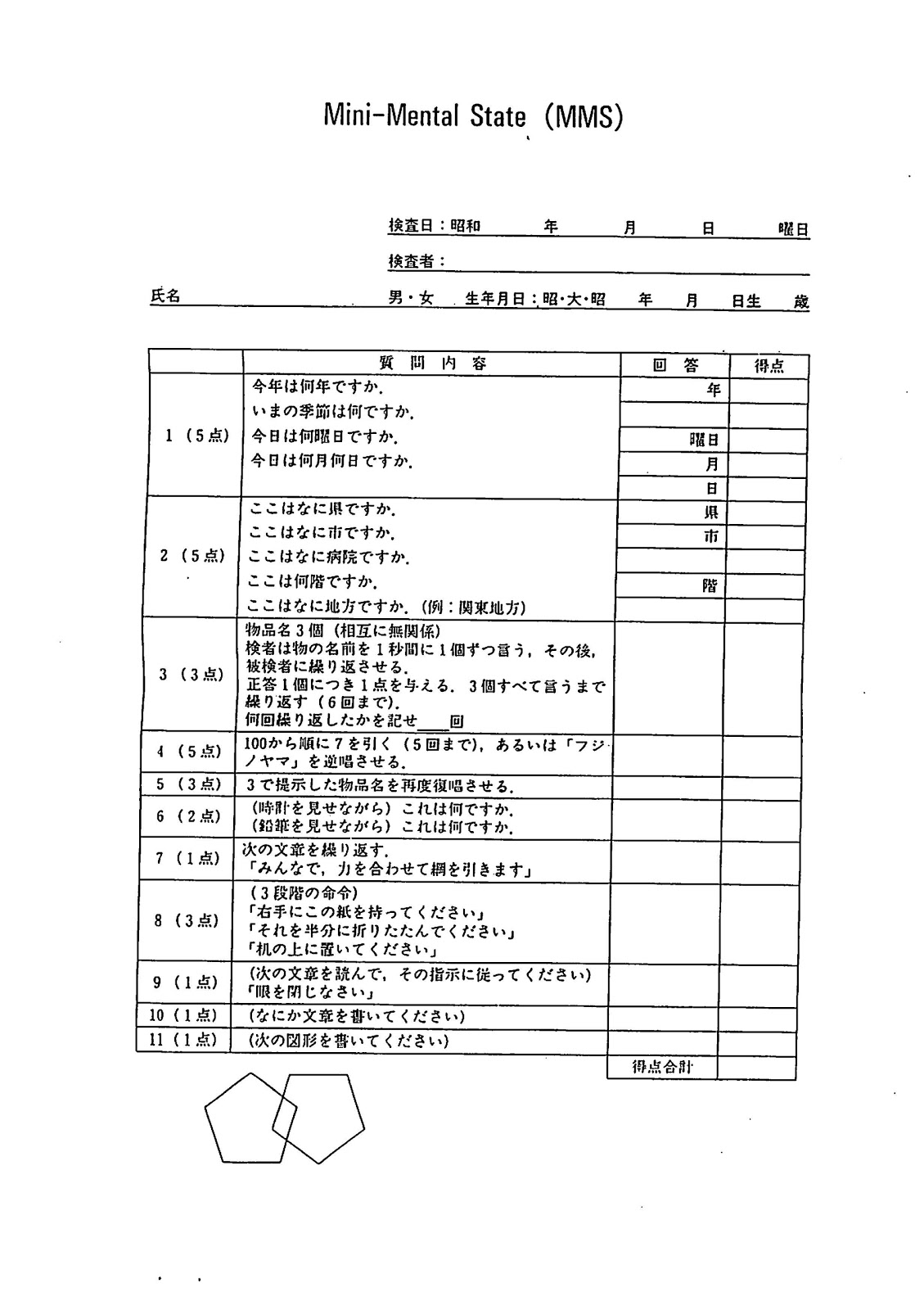 picture regarding Mini Mental Status Exam Printable known as Psychological Popularity Investigation Template. pin neuro test template