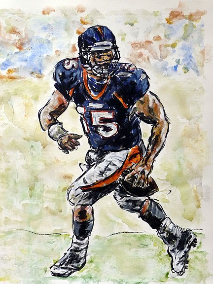 Painting Of Tim Tebow Art