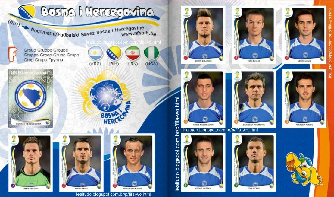 Album BOSNA I HERCEGOVINA - BOSNIA E HEZERGOVINA Fifa World Cup BRAZIL 2014 LIVE COPA DO MUNDO Sticker Figurinha Download Lealtudo
