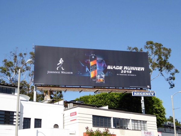 Johnnie Walker Blade Runner 2049 billboard