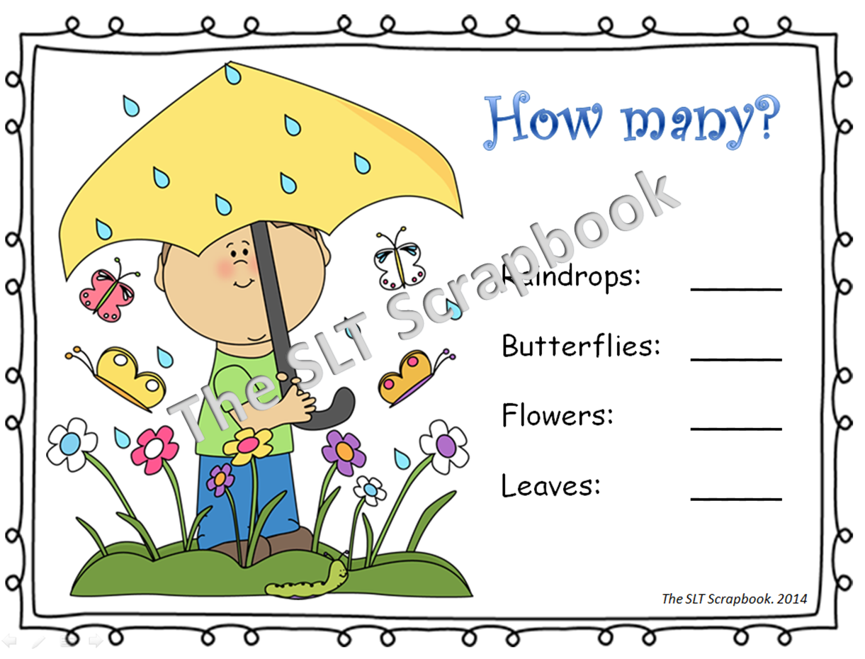 Spring has sprung the slt scrapbook as well as two roll and cover activities encouraging students to count the number of dots on dice and then color in the matching flower dhlflorist Gallery