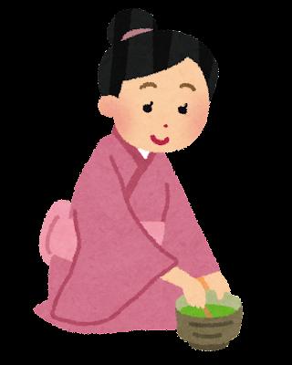 茶道をしている女性のイラスト
