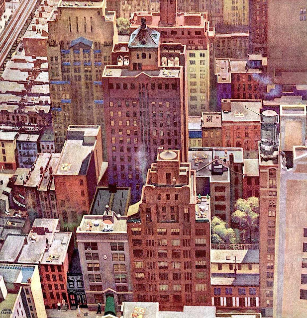 John Falter illustration of city 1940s?