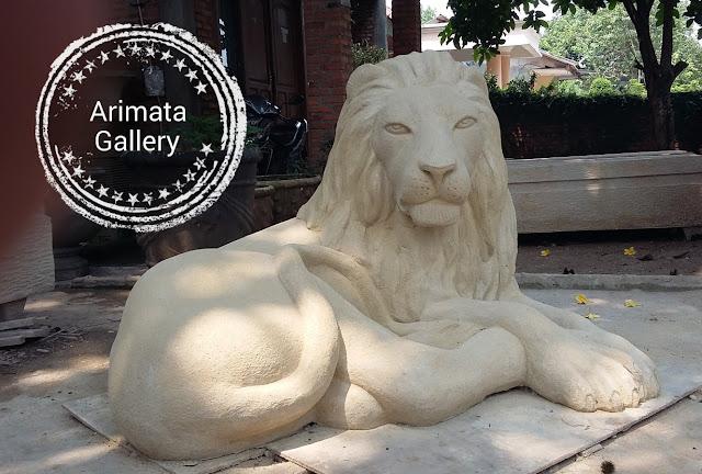 gambar harga patung singa semen