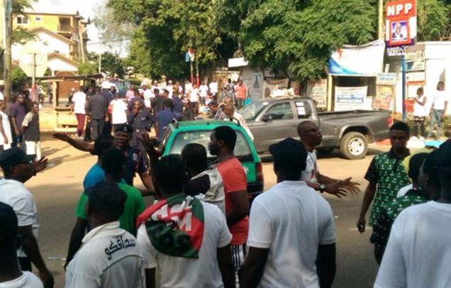 Gun Shots As NPP, NDC Supporters Clash At Akufo-Addo's Residence