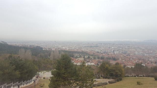 Eskişehir Şelale Park Cafe'den şehir manzarası