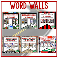 Word Wall Pennants